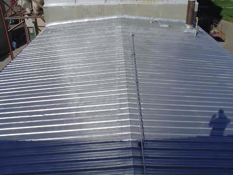 Restoration of Metal Roof with Aluminum Polymer