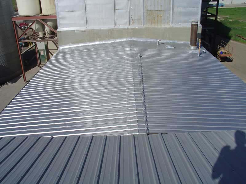 Restoration Of Metal Roof With Aluminum Polymer Urecoat