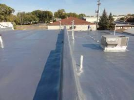 Spray Foam Roofing system by Urecoat connects buildings