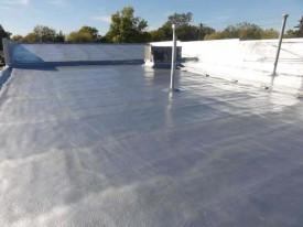 Spray Foam Roofing conforms to Irregular Shapes