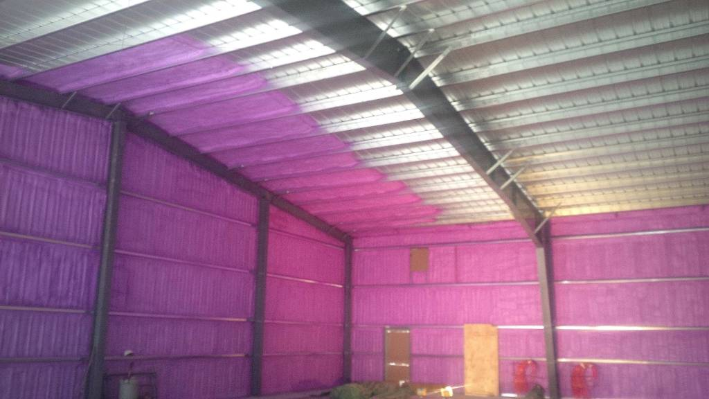 Commercial Shop Addition Insulation Urecoat Inc Spray