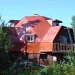 Copper Colour Spray Foam Roofing