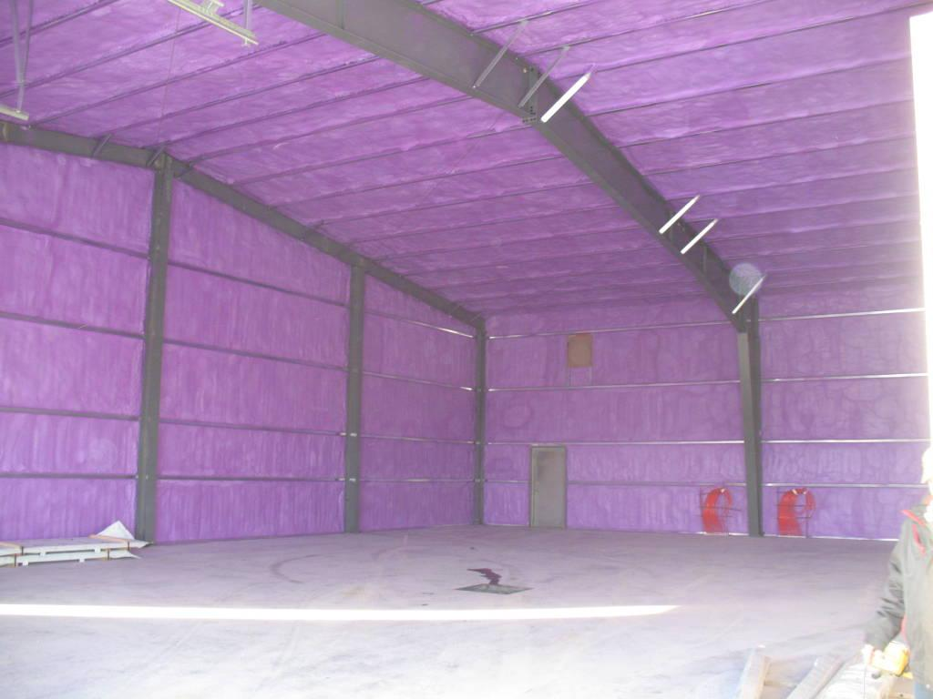 Commercial Shop Addition Insulation